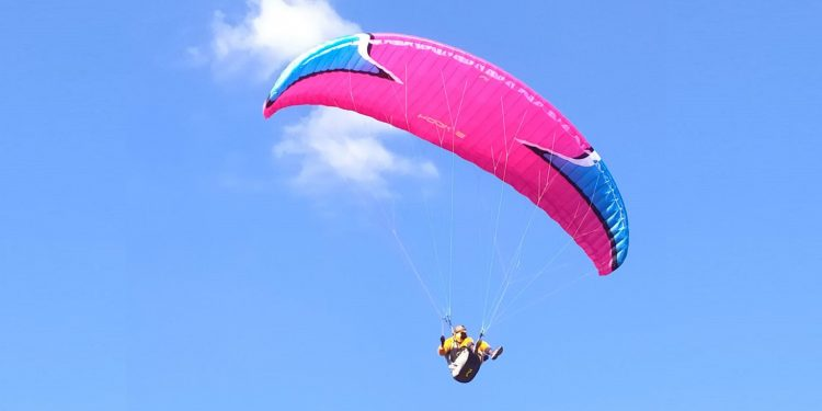 A participant of the paragliding championship. File image: Northeast Now