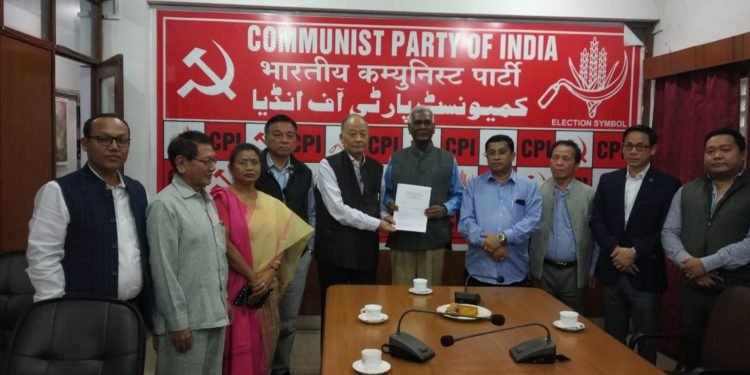 Congress delegation from Manipur in CPI office, New Delhi. Image: Northeast Now