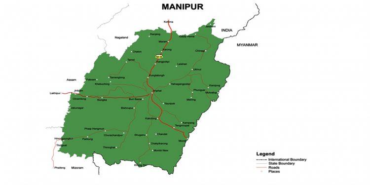 Manipur's map
