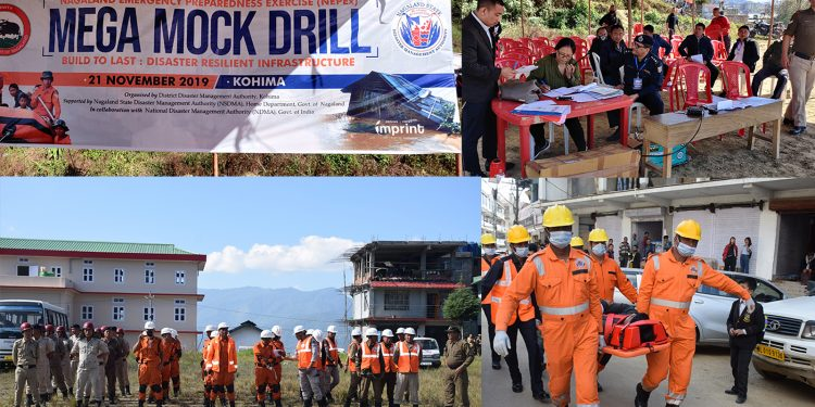 Mock drill in Kohima on Thursday. Image: Northeast Now