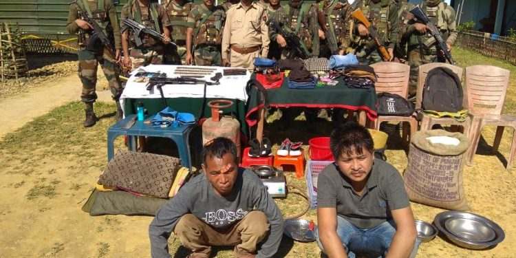 The two nabbed NSCN (R) and ZUF militants.