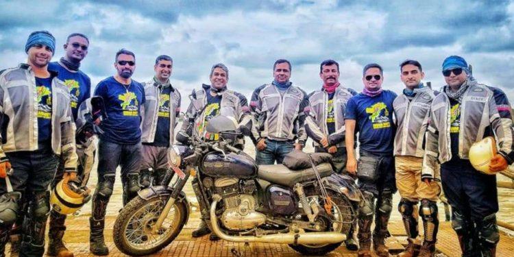 Navy bike riders