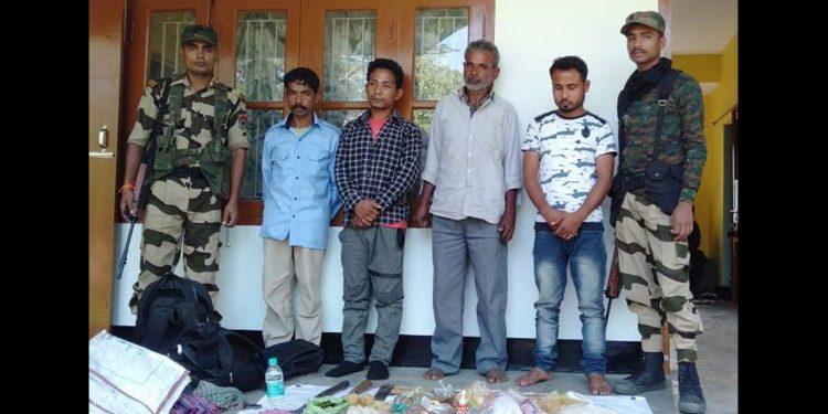 Arrested poachers in police custody. Image: Northeast Now