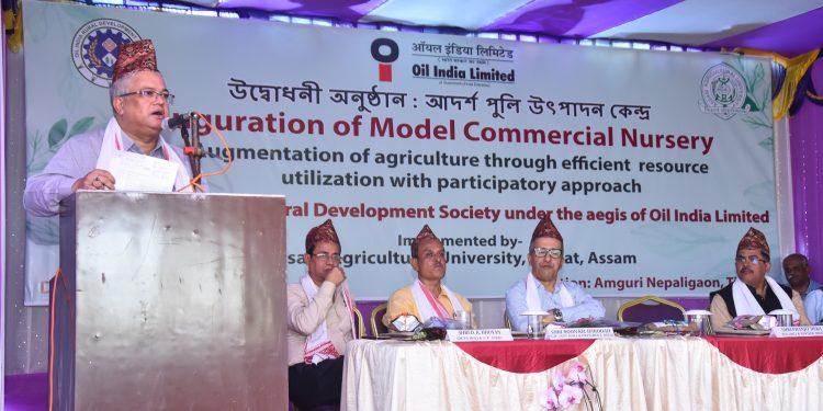 Shri P Deka, RCE, OIL Speaking on the occassion