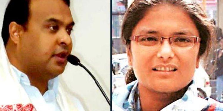 Joint up image of Assam finance minister Himanta Biswa Sarma and former MP Sushmita Dev