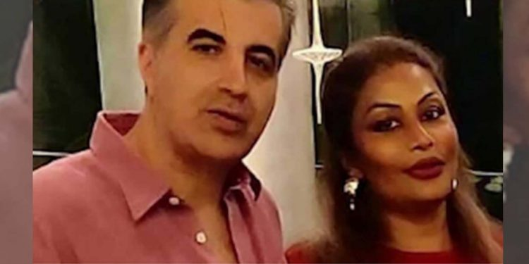 Tora Khasgir with husband Reza Borhani