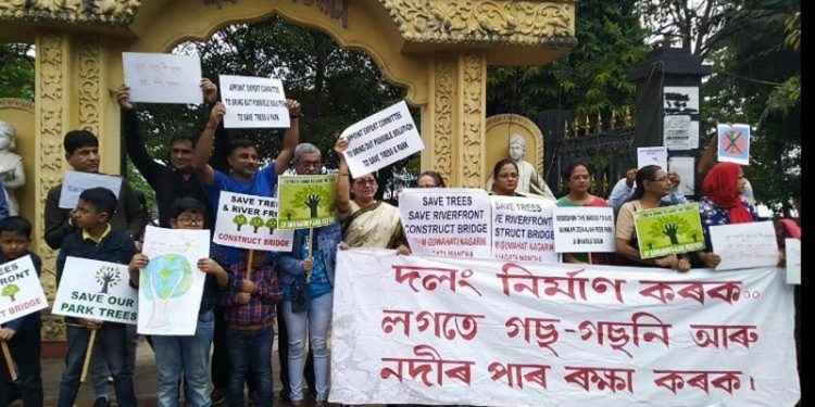 Protest against tree felling