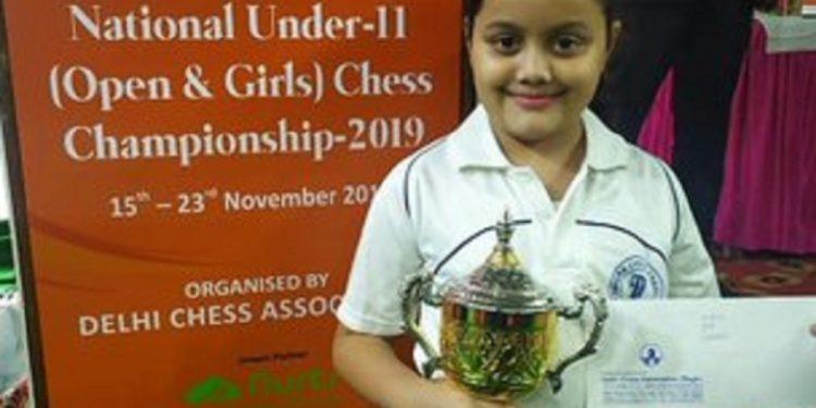 Tripura chess wonder kid Arshiya Das. Image courtesy: Twitter @BjpBiplab
