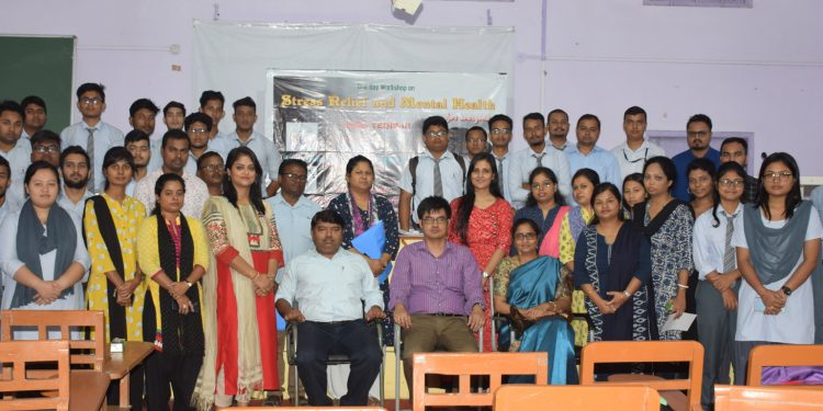 Participants of the daylong workshop on stress management.