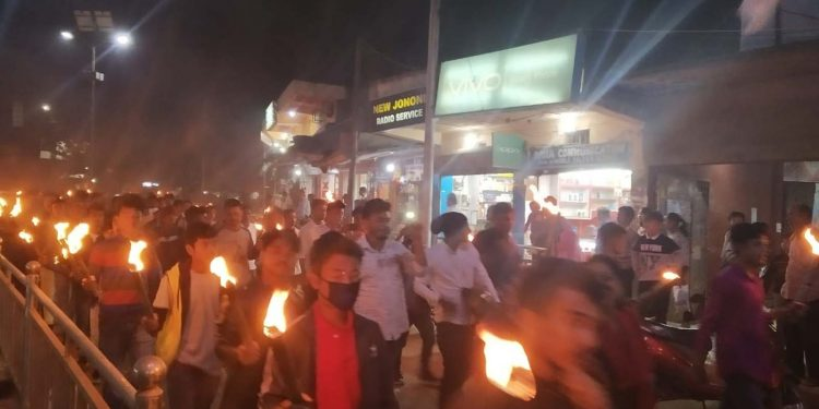 Anti-CAB protest in Karbi Anglong. Image credit - Northeast Now