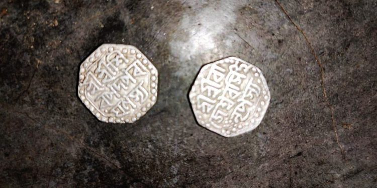 Coins with inscription of Ahom King Swargadeo Rajeshwar Singha. Image: Northeast Now