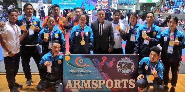 The Arunachal Pradesh arm wrestlers team. Image credit: Twitter