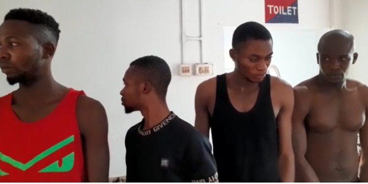 Nigerian footballers were on Saturday arrested by railway police at Agartala Railway Station.
