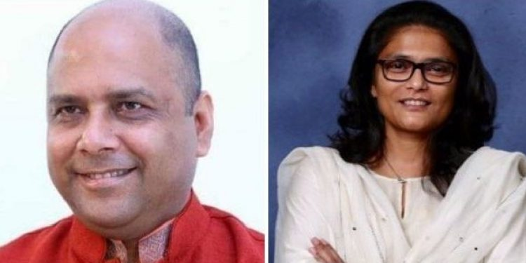 Joint up image of Silchar MP Dr Rajdeep Roy and former MP Sushmita Dev.