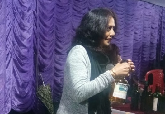 A participant at 17th Shillong Wine Festival on November 9, 2019. Image: Northeast Now