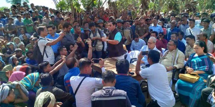 A team of ministers led by Tripura deputy chief Jishnu Dev Varma meets the agitators on Thursday.
