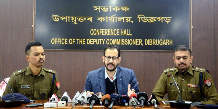 Dibrugarh DC Pallav Jha and SP Sreejith T.