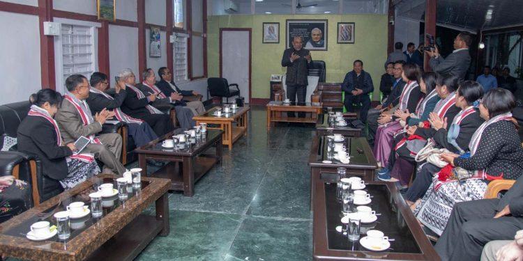 Myanmar delegation in Imphal