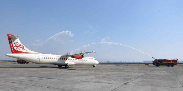 Manipur CM N Biren Singh on Saturday launched Imphal-Dimapur direct flight service at Bir Tikendrajit International Airport in Imphal.