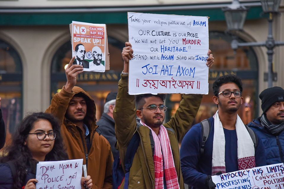 Assamese community protests in London, Germany against CAA 4