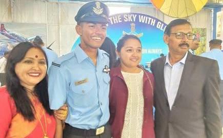 Arunabha Chakraborty with his parents ans sister.