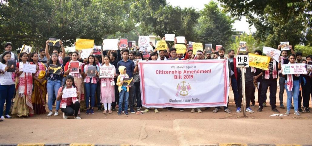 People from Assam stage anti-CAA protest in Bhubaneswar 3