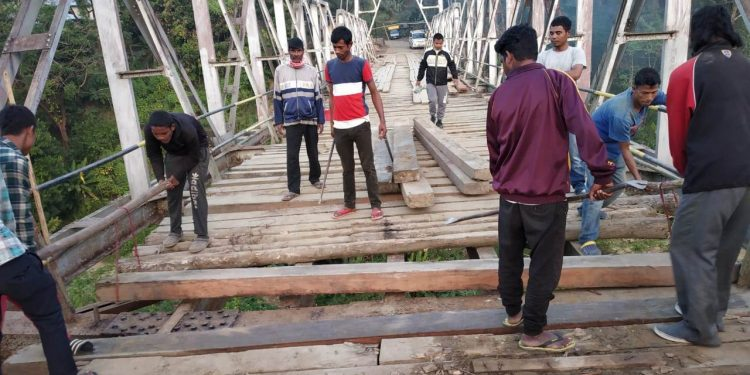 The bailey bridge, located about 39.5 km from Lunglei, is the lifeline of the south-western belt in Mizoram.