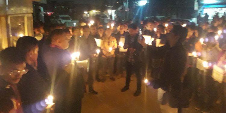 Candlelight vigit in Dimapur p