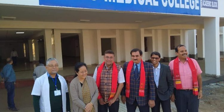 Medical Council of India team inspecting the college. Image: Facebook
