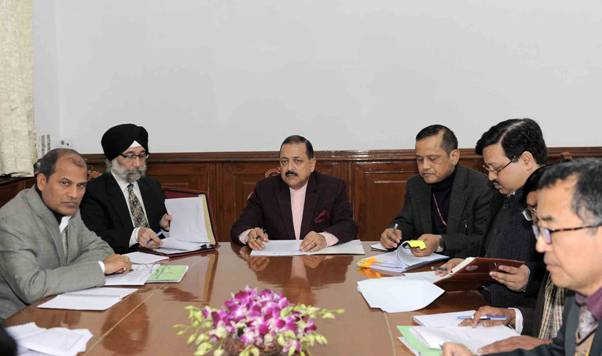 A review meeting of the DoNER ministry that was chaired by DoNER minister Jitendra Singh. (File image)