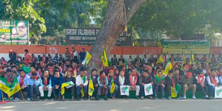 IPFT workers stages demonstration in New Delhi (file image).