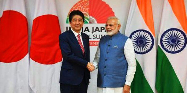 Shinzo Abe with Narendra Modi (File Image)