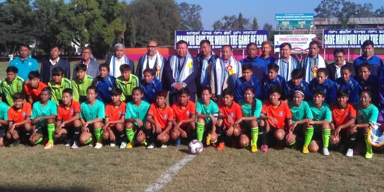 The 3rdedition of the friendly football match between Manipur and Myanmar's Mandalay was held in Imphal.
