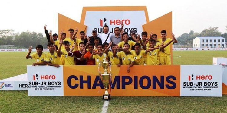 Meghalaya Sub-Junior football team