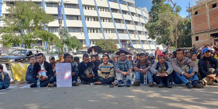 Persons with disabilities protest