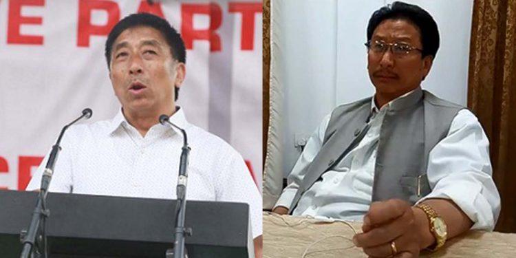 Nagaland MPs Tokheho Yepthomi and K.G. Kenye