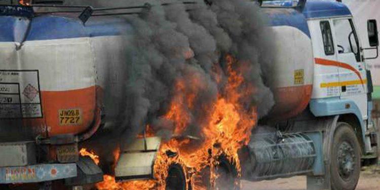 Oil tanker torched