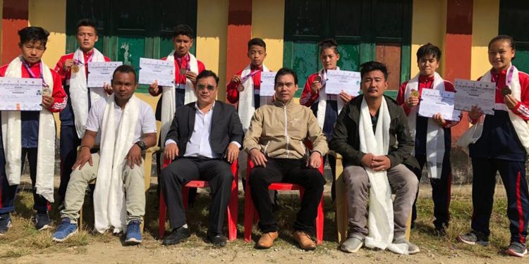 Arunachal junior wushu players