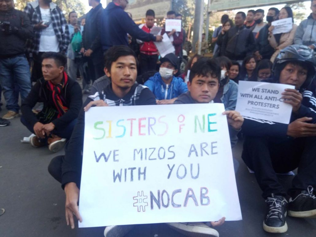 CAB row: Sit-in protest at Aizawl, Lalrosanga's resignation sought 3