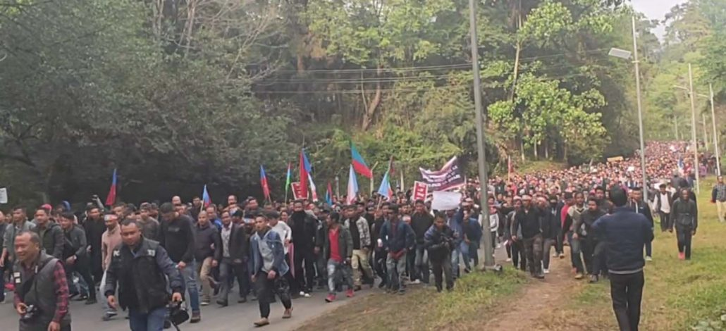 Protest in Shillong