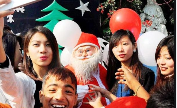 Christmas carols, chimes of church bells and traditional community feasts marked the Christmas celebrations in Northeast on Wednesday