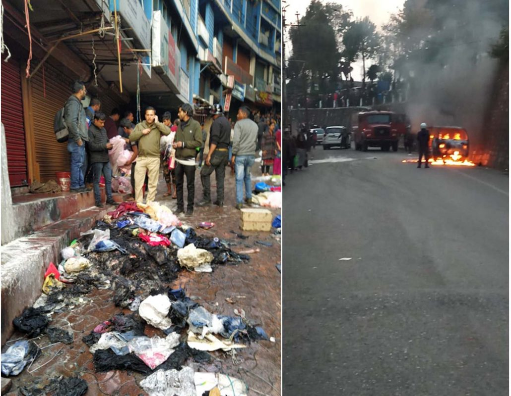Shops vandalized, cars torched; curfew imposed in Shillong 1