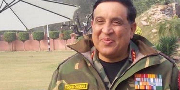 File image of Ceasefire Monitoring Group chairman in Nagaland lieutenant general Shokin Chauhan. Image courtesy: Twitter