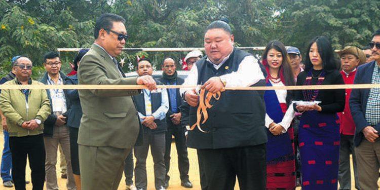 Imna Along inaugurating the Working Woman Expo. Image credit: Nagaland Post