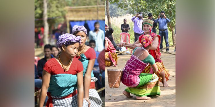 Traditional Rabha dances being showcased at Chandubi Festival in 2018. Image: Northeast Now