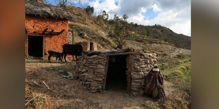 Menstrual huts representational image