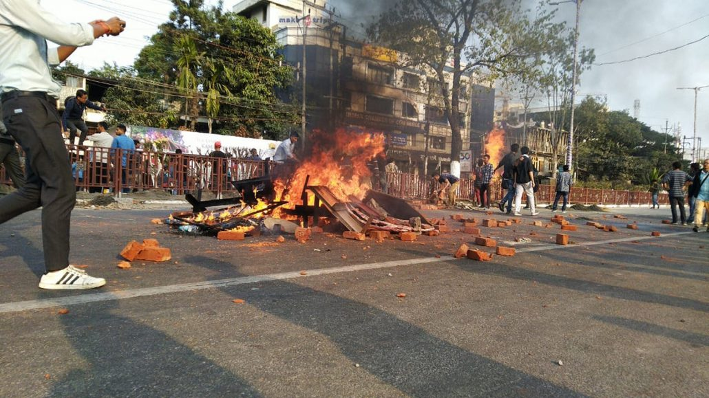 Assam is in turmoil, protesters lay siege around Dispur, Assam's capital 1