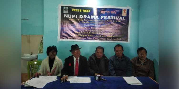 Festival director S Thaninleima attending the press. Image credit: Northeast Now