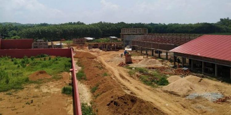 Country's largest detention centre during construction state. Image: Northeast Now