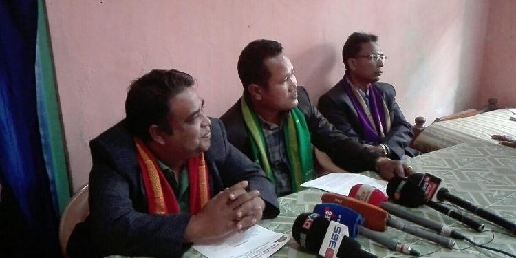 UGAMC leaders in Goalpara on Tuesday. Image: Northeast Now